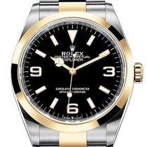 Rolex Explorer Gold/Steel 39mm Black Arabic numerals United States of America, New York, New York