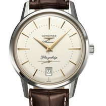 Longines Flagship Heritage Steel 38.5mm Silver United States of America, Michigan, RICHMOND HILL