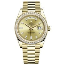Rolex Day-Date 40 Yellow gold 40mm Gold No numerals United States of America, New York, New York