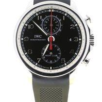 IWC Portuguese Yacht Club Chronograph Staal 45.5mm Zwart Arabisch