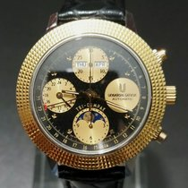 Universal Genève Compax Gold/Steel 39mm Black United States of America, New Jersey, Atlantic city