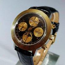 Universal Genève Compax Gold/Steel 39mm Black