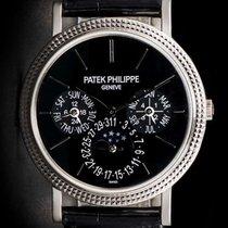 Patek Philippe Perpetual Calendar Bílé zlato 38mm Černá Bez čísel