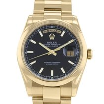 Rolex Day-Date 36 occasion 36mm Noir Date Or jaune