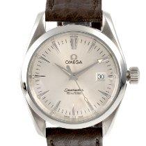 Omega Seamaster Aqua Terra pre-owned 36mm Silver Date Leather