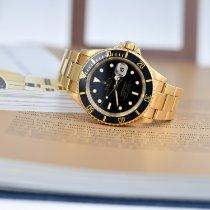 Rolex Submariner Date Yellow gold 40mm Black No numerals Singapore