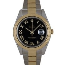 Rolex Datejust II Gold/Steel 41mm Black Roman numerals United Kingdom, London