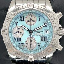 Breitling Chrono Cockpit Steel 39mm Blue Roman numerals