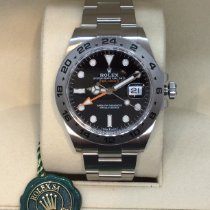 Rolex neu Automatik Zentralsekunde Leuchtzeiger Chronometer Verschraubte Krone Originalzustand/Originalteile Leuchtindizes 42mm Stahl Saphirglas