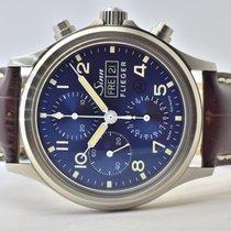 Sinn Steel Automatic Blue Arabic numerals 42mm new 358