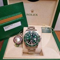 Rolex Submariner Date Steel Green No numerals Singapore