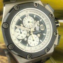 Audemars Piguet Titanium Automatic Black No numerals 44mm pre-owned Royal Oak Offshore Chronograph