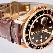 Rolex GMT-Master II Желтое золото 40mm Черный Без цифр