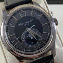 Patek Philippe Annual Calendar usados 40mm Negro Fase lunar Fecha Día de la semana Mes Piel de aligátor