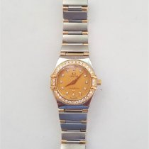歐米茄 123.20.24.60.08.001 金/鋼 1998 Constellation Quartz 24mm 二手