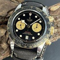 Tudor Black Bay Chrono brukt 41mm Svart Kronograf Dato Lær