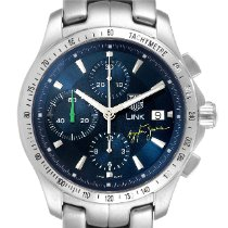 TAG Heuer Link pre-owned 42mm Chronograph Date Steel