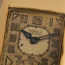 Rolex Prince Yellow gold 37mm Silver Arabic numerals