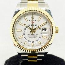 Rolex Sky-Dweller Gold/Steel 42mm White No numerals Singapore