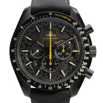 Omega Carbono Cuerda manual Negro Sin cifras 44.25mm usados Speedmaster Professional Moonwatch