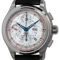 Ball Trainmaster pre-owned 41mm Silver Chronograph Date Weekday Leather