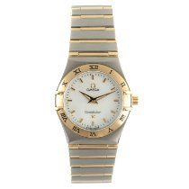 Omega Constellation Quartz Gold/Steel 26mm Mother of pearl