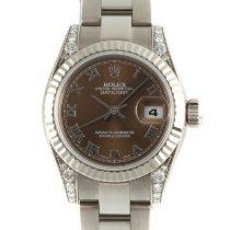 Rolex Белое золото Автоподзавод Коричневый 26mm подержанные Lady-Datejust