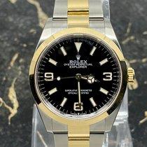 Rolex Explorer Gold/Steel 36mm Black Arabic numerals