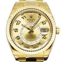 Rolex Sky-Dweller Yellow gold 42mm Gold Arabic numerals Singapore