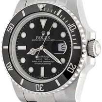 Rolex Automatic Black No numerals 40mm pre-owned Submariner Date