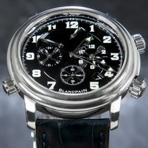 Blancpain Léman Réveil GMT 2041-1130M-53B Muy bueno Acero 40mm Automático