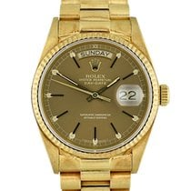 Rolex Day-Date 36 Yellow gold 36mm Brown No numerals United States of America, Georgia, Atlanta
