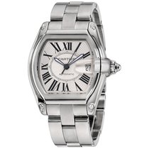 Cartier Roadster Steel 37mm Silver Roman numerals United States of America, New York, Greenvale