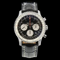 Breitling Navitimer 1 B01 Chronograph 43 gebraucht 43mm Chronograph Datum Tachymeter Leder