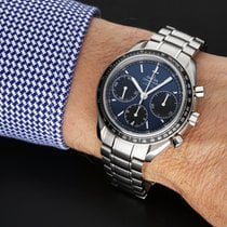 Omega Speedmaster Racing pre-owned 40mm Blue Chronograph Date Tachymeter Steel