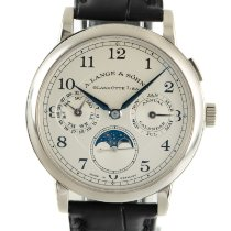 A. Lange & Söhne new Manual winding Quick Set 40mm White gold Sapphire crystal