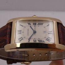 Cartier Tank Américaine Žluté zlato 24mm Bílá Římské