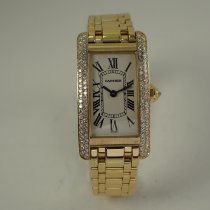 Cartier Tank Américaine pre-owned 19mm White Yellow gold