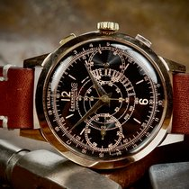Eberhard & Co. Red gold Manual winding Black 39mm pre-owned Extra-Fort