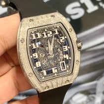 Richard Mille White gold Automatic Transparent Arabic numerals new