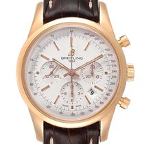 Breitling Transocean Chronograph Rose gold 43mm Silver