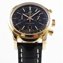Breitling Transocean Chronograph 38 Rose gold 38mm Black No numerals