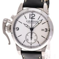 Graham pre-owned Automatic 42mm Silver Sapphire crystal 5 ATM
