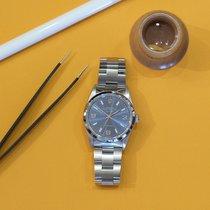 Rolex Air King Precision Stahl 34mm Blau Keine Ziffern