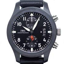 IWC 파일럿 크로노그래프 탑건 세라믹 46mm 검정색 아라비아 숫자