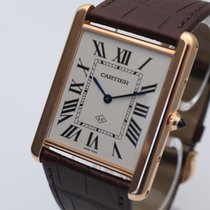 Cartier Red gold Manual winding Champagne Roman numerals 40mm new Tank Louis Cartier