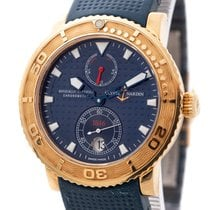 Ulysse Nardin Yellow gold Automatic Blue No numerals 41mm pre-owned Maxi Marine Diver