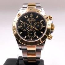 Rolex Daytona Gold/Stahl 40mm Schwarz Keine Ziffern