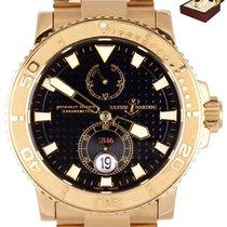 Ulysse Nardin Rose gold Automatic Black 42mm pre-owned Maxi Marine Diver
