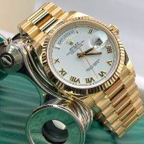 Rolex Day-Date 36 Κίτρινο χρυσό 36mm Άσπρο Xωρίς ψηφία